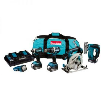 MAKITA DLX5043PT 18V 5PC COMBO KIT INC 3X 5AH BATTS WITH TWIN CHARGER