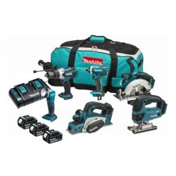MAKITA DLX6067PT 18V 6-DELIGE KIT INC 3X 5AH BATTS MET TWIN LADER